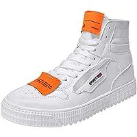 ☺HWTOP Herren Sneakers Sportschuhe Laufschuhe High-Top Flache Turnschuhe Fashion Männer Schnürstiefel Schuhe Segeltuchschuhe Leichte Schuhe Outdoor Freizeitschuhe Fitnessschuhe mit Klettverschluss