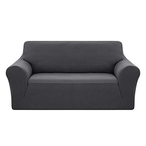 Deconovo Jacquard Sofahusse Couch husse Sofabezug Sofaüberwurf 145-175 cm Grau 2-Sitzer