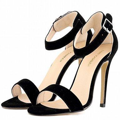 zhENfu Scarpe donna tessuto Stiletto Heel tacchi sandali parte & sera abito / / CasualBlack / blu / giallo / il verde / viola Black