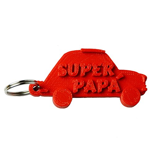 Portachiavi auto super papà in stampa 3d - idea regalo, festa del papà