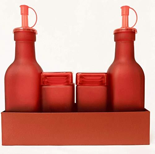Pusher Set per Condimenti Monocromo, Rosso