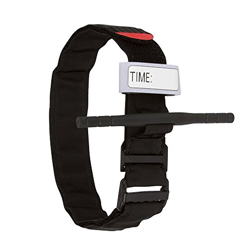 Tourniquet: Tactical Tourniquet Kampf Anwendungs für Blutverlust Kontrolle und Military Medizinische Notfall, Erste-Hilfe-Reaktion, Wandern und Notfall Kits (Schwarz, 1Packung) -