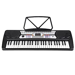 54 Keys LED Display Digital Electronic Music Keyboard Electric Piano Organ with Sheet Music Holder Microphone