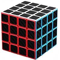 Axcone Speed Cube 2x2 3x3 4x4 5x5 Cube Magic Cube Fibre de Carbone  Autocollant IQ Spécial 94f8ba3cdb34