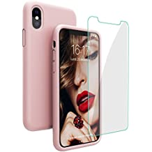 coque iphone x antichoc rose