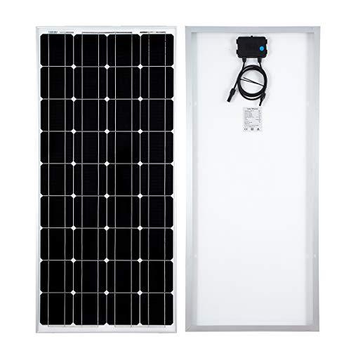 Preisvergleich Produktbild SARONIC 100W 12V Solarpanel Monokristallines Photovoltaik-PV-Modul zum Aufladen eines 12V in Reisemobil,  Wohnmobil,  Wohnwagen,  Boot oder Yacht oder außerhalb des Stromnetzes