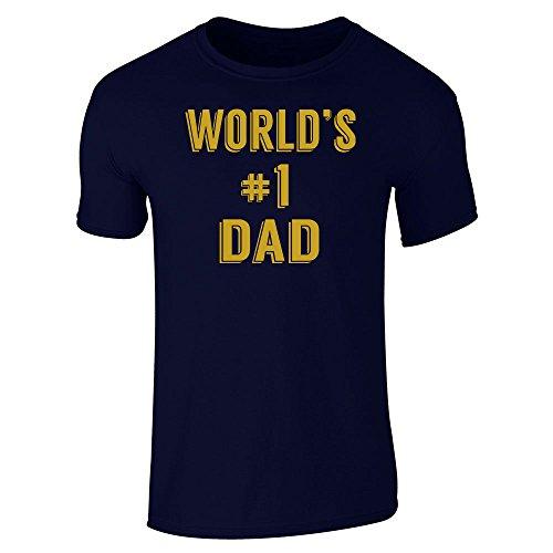 Pop Threads Herren T-Shirt Blau - Marineblau