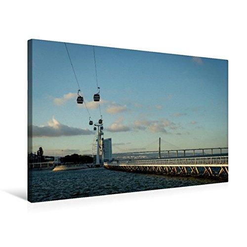Preisvergleich Produktbild Premium Textil-Leinwand 75 cm x 50 cm quer, Schwebebahn zum Torre Vasco Da Gama | Wandbild, Bild auf Keilrahmen, Fertigbild auf echter Leinwand, Leinwanddruck (CALVENDO Orte)