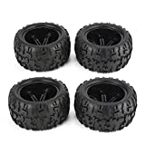 Elviray 4Pcs 150mm Cerchione e Pneumatici per 1/8 Monster Truck Traxxas HSP HPI E-MAXX Savage Flux Racing RC Accessori Auto