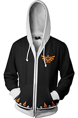 Xiemushop Männer und Frauen Unisex 3D gedruckt Hoodie Sweatershirt Legend of Zelda -