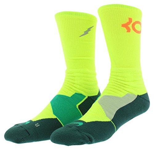 Nike crew chaussettes hyperelite de basket Multicolore - Volt/Emrgrn/Total Orange