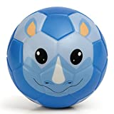 Chastep Toddler Soft Training Animal Soccer 6 Inch (15cm)Mini Foam Toy Ball for Kids (Ingenuous Turtle, Cutee Seal,Chowhound Squirrel, Hyacinthine Whale, Serious Rhinoceros) (Serious Rhinoceros)