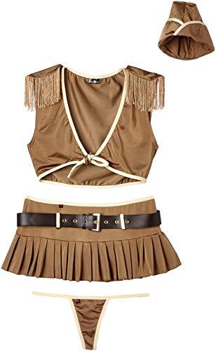 Kostüm 007 Damen - Obsessive Damen Disfraz Soldado 5 Piezas Body, Braun (Marrón 007), 34 (Herstellergröße: 36)