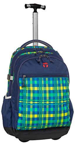 Take It Easy Schulrucksack Rucksack Trolley 48x32x29cm BARCELONA Crossy 502241 blau grün Bowatex