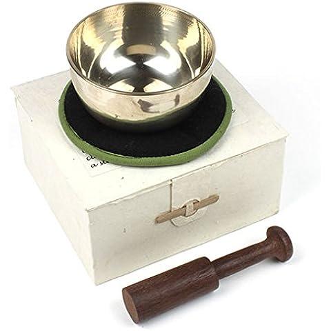 Qualità campana tibetana e Stick Set regalo, commercio equo e solidale, Gold, large