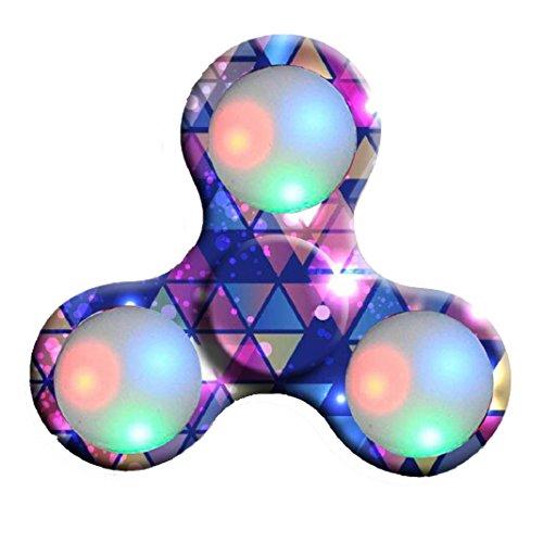 Preisvergleich Produktbild Erwachsene Spielzeug LED Licht Fidget Hand Spinner Fidget Spielzeug Finger Ball für Autismus Suffer Langeweile Stress Reducer Spielzeug (D)