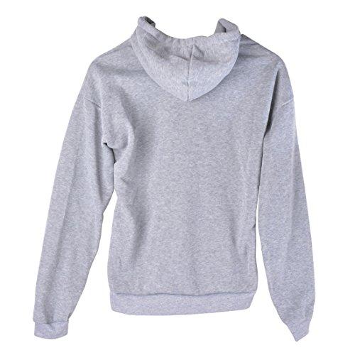 Dihope Femme Automne Sweat à Capuche Top à Manches Longues Hoodie Sweatshirt Casual Gris