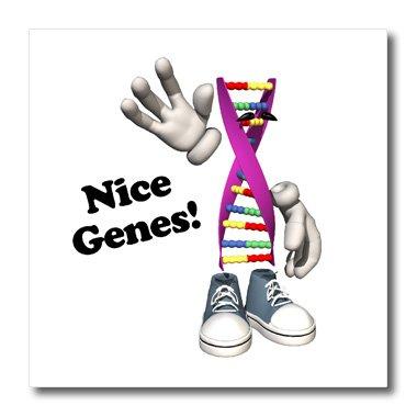 3dRose HT 102585_ 1Funny DNA Strip Charakter Nice Gene geneology Humor-Iron auf Wärmeübertragung für weiß Material, 820,3cm 1 Humor Sweatshirt