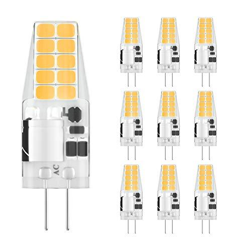 DiCUNO G4 LED Lampe 3W, AC/DC 12 V mit 300 LM, SMD,Ersatz für 30W Halogen Lampen,Warmweiß 3000k,Nicht dimmbar,Kein Flackern, 10-er Pack[Energieklasse A+] - 12 Moderne Landschaft Beleuchtung
