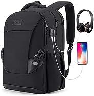 Tzowla Travel Laptop Backpack Waterproof Business Work School College Bag Daypack with USB Charging&Headph