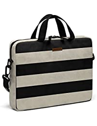 """DailyObjects Vintage Black Stripes City Compact Messenger Bag For Up To 14"""" Laptop/Macbook"""