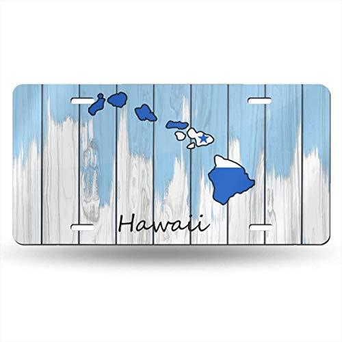 mchmcgm Hawaii Map Honduras Flag Nummernschilder Front Plate 6
