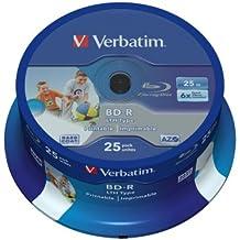 Verbatim BD-R 25GB 6x - Discos de Blu-ray vírgenes (6x velocidad de lectura/escritura BD-R)