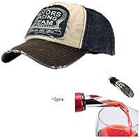 Malloom® Nueva unisex gorra de béisbol algodón mezclado motocicleta Gorra  molienda borde do old Sombrero 80f2cd0558c