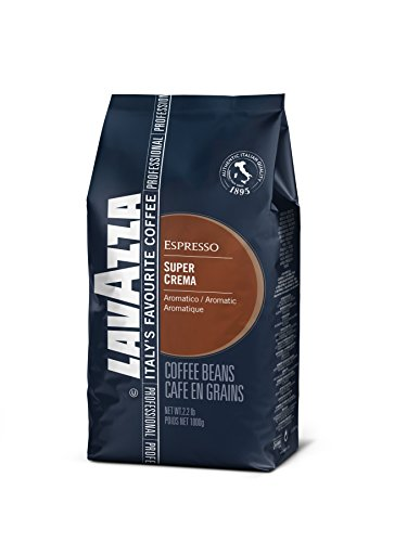 Preisvergleich Produktbild Lavazza Kaffee Espresso Super Crema, ganze Bohnen, Bohnenkaffee, 6er Pack, 6 x 1000g