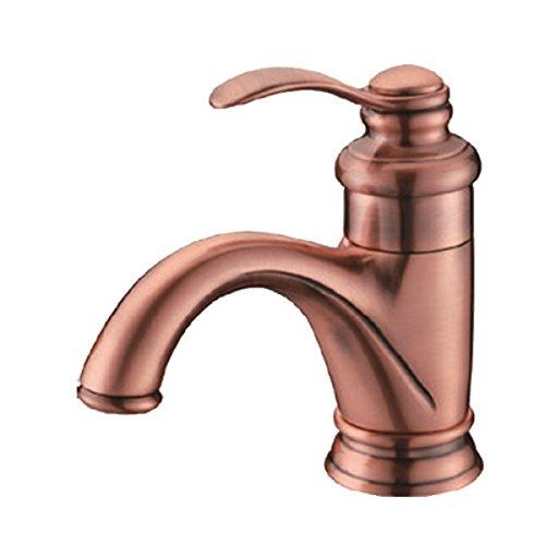Vollkupfer-Küche Bad Becken Wasserhahn Badewannenhahn Rote Rose Bad-Accessoires