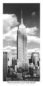 Reproduction d'art 'Empire State Building, New York', de Henri Silberman, Taille: 50 x 100 cm