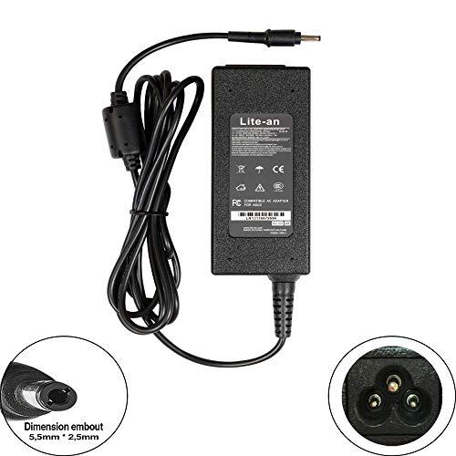 Lite-an Compatible Chargeur Toshiba Portege Z30-C-17G Z830-A167 Z930-B112 Ordinateur PC Portable - Adaptateur d'alimentation 19V 2.37A 45W