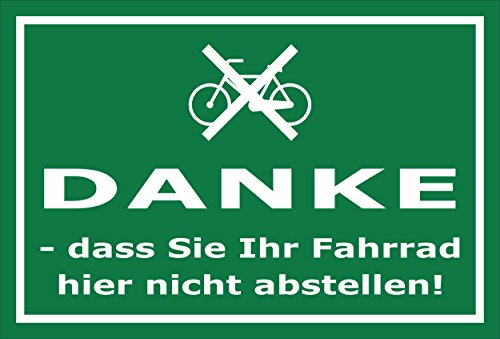 Melis Folienwerkstatt Aufkleber - Fahrrad abstellen - 30x20cm - S00050-016-G -20 Varianten
