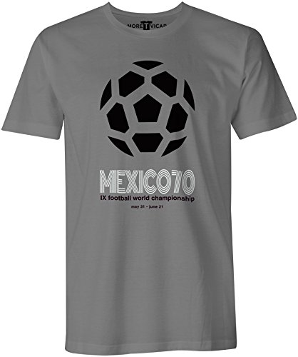 Mexico 70 - Fußball-Weltmeisterschaft - Herren T Shirt Kohlengrau