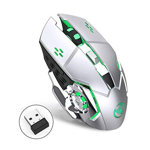 Big-Mountain Wireless Gaming Maus | 5 Tasten Mechanische USB Ergonomische Pro Gamer Mouse...