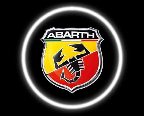 Aokairuisi LUCI LED CREE Logo PROIETTORE SOTTOPORTA 12V 5W Abarth Universale