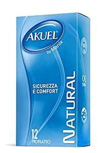 Akuel Natural, Preservativi Classici, 6 Pezzi