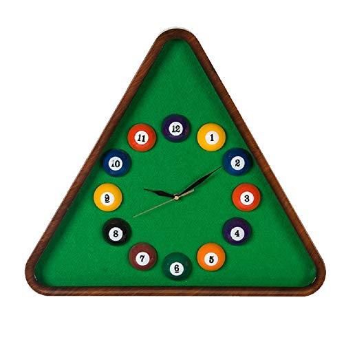 WFL Billard wanduhr Haus, büro Billard - kreative Uhr, kinderzimmer stumm wanduhr Quarz - Uhr,1,16 Zoll