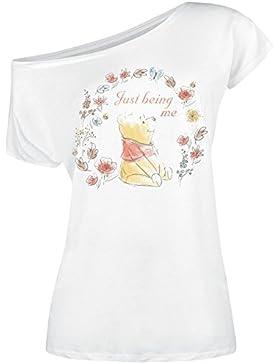 Winnie Pooh Just Being Me Camiseta Mujer Blanco