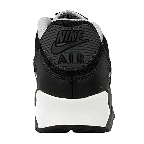 Nike Air Max 90 Mesh (Gs) Jungen Laufschuhe Negro (Black / Black-Wolf Grey-Anthrct)