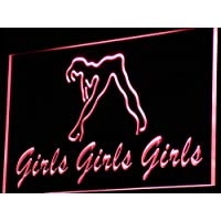 pq824-r Claudine/'s Hang Out Girl Kid/'s Room Light Neon Sign