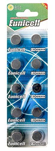 Eunicell AG10 (1 Blistercard = 10 Batterien) 1,5V Alkaline EINWEG Markenware