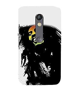 PrintVisa Famous Peson 3D Hard Polycarbonate Designer Back Case Cover for Motorola Moto X Play