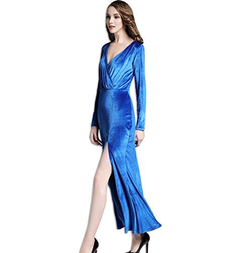 Brautjungfer kleid blau ruckenfrei