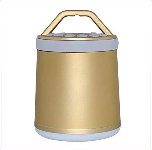 Haut-parleur Bluetooth, enceinte sans fil extérieure portable avec lumières LED autour, prise en charge des haut-parleurs couplage Sync audio partagé,Gold