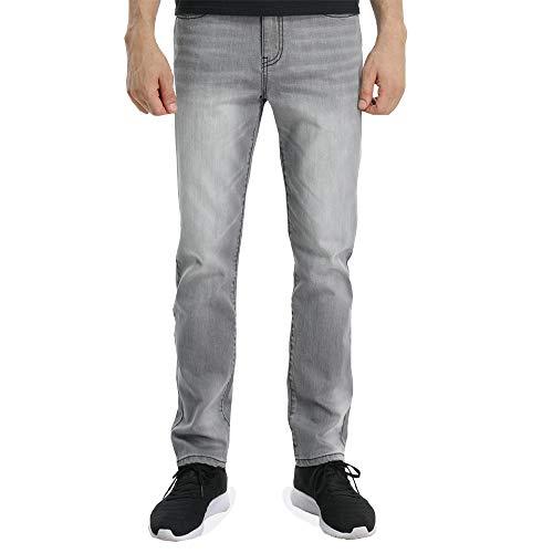 Signatur Kordelzug Hose (Wardweegion Herren Jeanshose, 5 Taschen, Denim, Medium, gerade, Stretch, legere Hose - Grau - 30W / 30L)