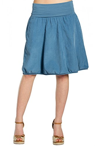 Cord-jeans-rock (CASPAR RO004 Damen Winter Cord Rock knielang, Farbe:jeans blau;Größe:One Size)