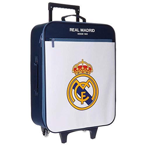 Maleta de Cabina, del Real Madrid. con 2 Ruedas. 26 litros de Capacidad. Med.: 52x36x18 cms.