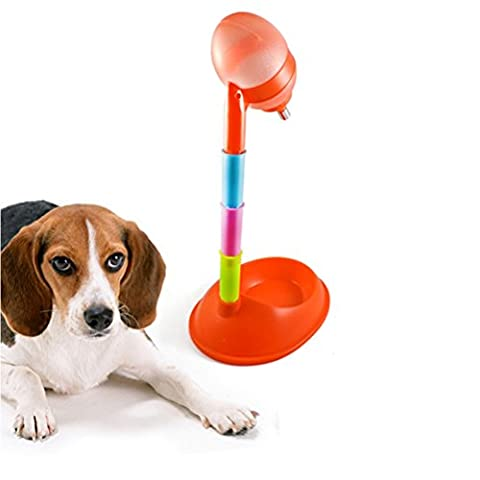 Zhhlaixing Fournitures pour animaux Portable Adjustable Pet Dog/Cat Adjustable Food and Water Dispenser Vertical Feeder