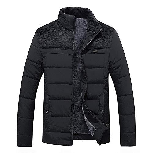 HUIHUI Winterjacke Herren Parka Camouflage Mantel Business Softshell Jacke (Schwarz,M) Soft Shell Trench